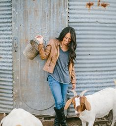She manages to make goats and farming look FANTASTIC.