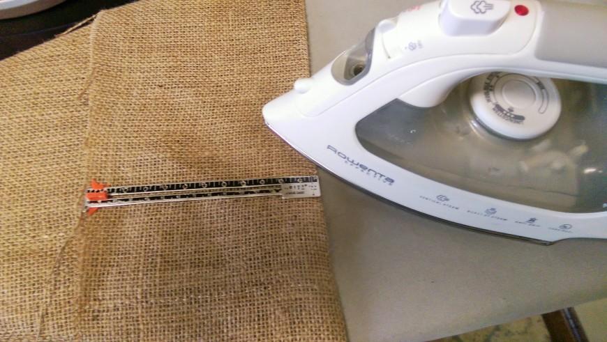 6-inch fold, iron flat